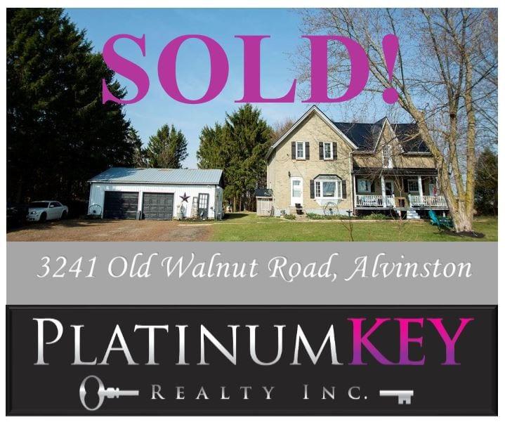 SOLD!! 3241 Old Walnut Road, Alvinston